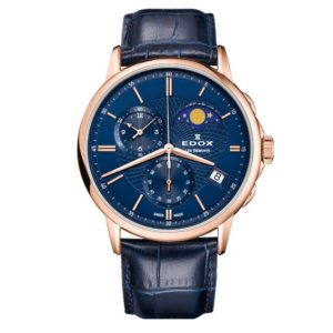 Часы Edox 01651-37RBUIR Les Bemonts Chronograph Moon Phase Фото 1