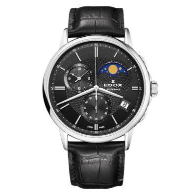 Часы Edox 01651-3NIN Les Bemonts Chronograph Moon Phase Фото 1