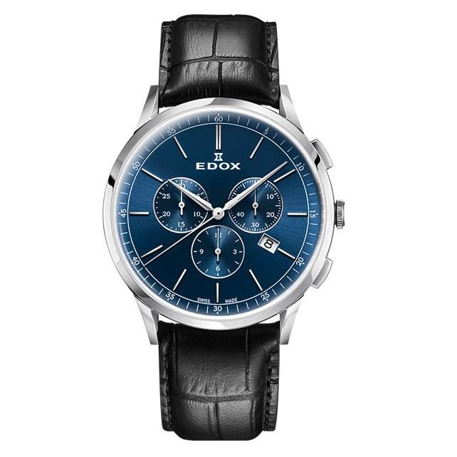 Часы Edox 10236-3CBUIN Les Vauberts Chronograph Фото 1