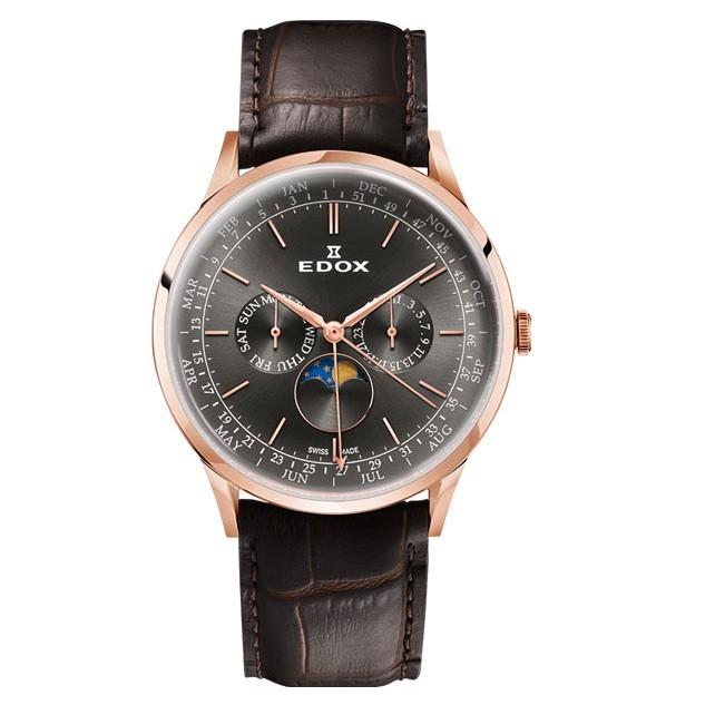 Часы Edox 40101-37RCGIR Les Vauberts Complication Фото 1