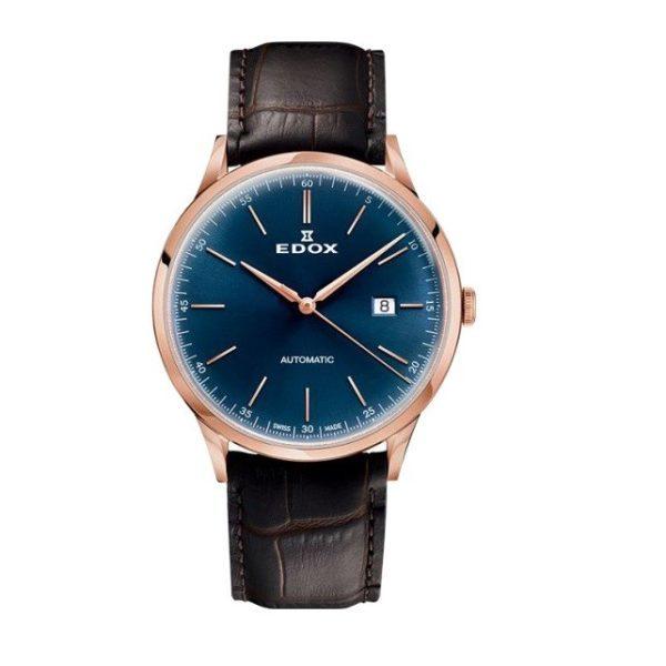 Часы Edox 80106-37RCBUIR Les Vauberts Automatic Date Фото 1