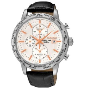 Seiko SPL053P1 CS Dress Alarm World Timer Фото 1