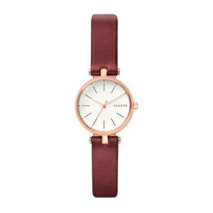 Skagen SKW2641 Signatur Maroon Leather Фото 1