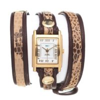 La Mer Collections LMLW6005 Layer Chocolate Snake Wrap