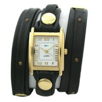 La Mer Collections LMSW1001 Stud Black Gold