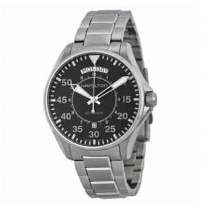 Hamilton H64615135 Khaki Aviation Pilot Day Date Фото 1