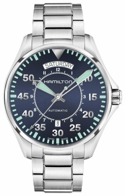 Hamilton H64615145 Khaki Aviation Pilot Day Date