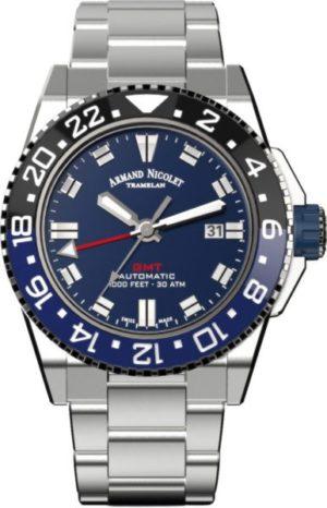 Armand Nicolet A486AGU-BU-MA4480AA JS9 GMT