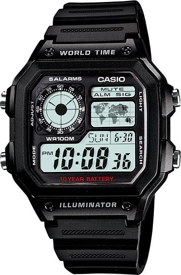Мужские часы Casio AE-1200WH-1A фото 1