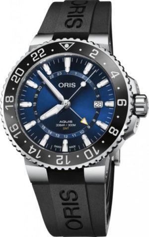 Oris 798-7754-41-35RS Aquis GMT