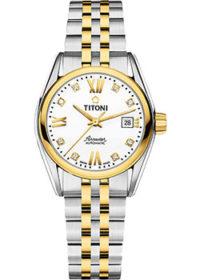 Швейцарские наручные  женские часы Titoni 23909-SY-063. Коллекция Airmaster фото 1