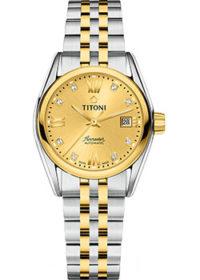 Швейцарские наручные  женские часы Titoni 23909-SY-064. Коллекция Airmaster фото 1