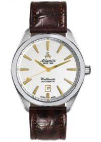 Швейцарские наручные  мужские часы Atlantic 53750.41.21G. Коллекция Worldmaster фото 1