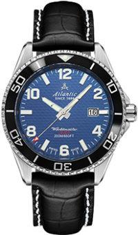 Швейцарские наручные  мужские часы Atlantic 55370.47.55S. Коллекция Worldmaster Diver фото 1