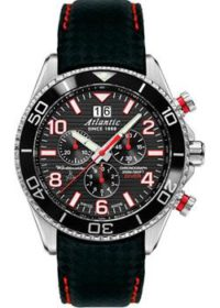 Швейцарские наручные  мужские часы Atlantic 55470.47.65RC. Коллекция Worldmaster Diver фото 1