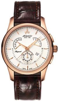 Швейцарские наручные  мужские часы Atlantic 56450.44.21. Коллекция Seaport фото 1
