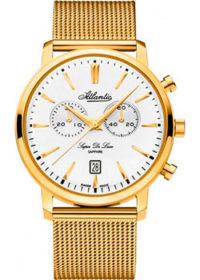 Швейцарские наручные  мужские часы Atlantic 64456.45.21. Коллекция Super De Luxe фото 1