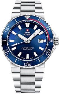 Швейцарские наручные  мужские часы Swiss military SMA34086.02. Коллекция Automatic Dive фото 1