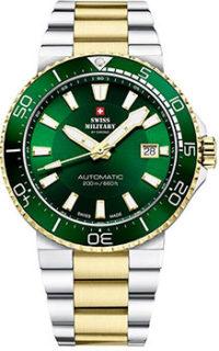 Швейцарские наручные  мужские часы Swiss military SMA34086.04. Коллекция Automatic Dive фото 1