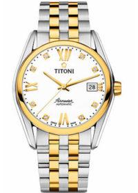 Швейцарские наручные  мужские часы Titoni 83909-SY-063. Коллекция Airmaster фото 1
