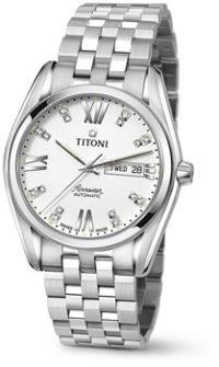 Швейцарские наручные  мужские часы Titoni 93709-S-385. Коллекция Airmaster фото 1