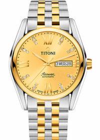 Швейцарские наручные  мужские часы Titoni 93709-SY-615. Коллекция Airmaster фото 1