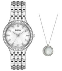 Японские наручные  женские часы Bulova 96X146. Коллекция Crystal Ladies фото 1