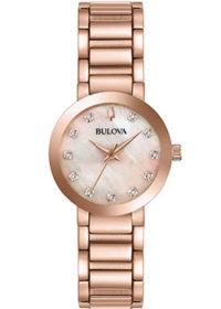 Японские наручные  женские часы Bulova 97P132. Коллекция Diamonds фото 1