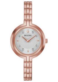 Японские наручные  женские часы Bulova 97P145. Коллекция Rhapsody фото 1