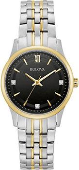 Японские наручные  женские часы Bulova 98P196. Коллекция Diamonds фото 1