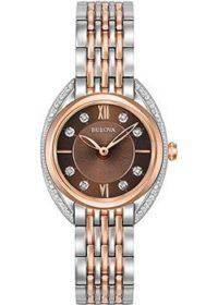 Японские наручные  женские часы Bulova 98R230. Коллекция Diamonds фото 1