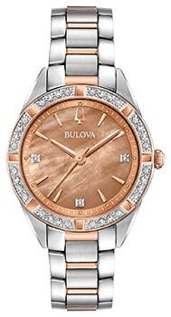Японские наручные  женские часы Bulova 98R264. Коллекция Sutton фото 1