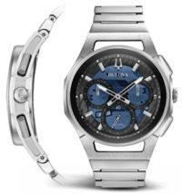 Японские наручные  мужские часы Bulova 96A205. Коллекция CURV фото 1