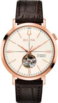 Японские наручные  мужские часы Bulova 97A136. Коллекция Automatic фото 1
