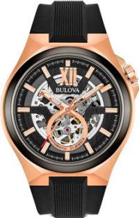 Японские наручные  мужские часы Bulova 98A177. Коллекция Maquina фото 1