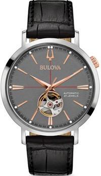 Японские наручные  мужские часы Bulova 98A187. Коллекция Automatic фото 1