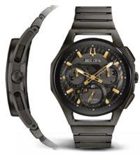 Японские наручные  мужские часы Bulova 98A206. Коллекция CURV фото 1
